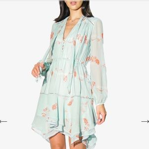 JONATHAN SIMKHAI Irena Rose Silk Mini Dress-NWT-M